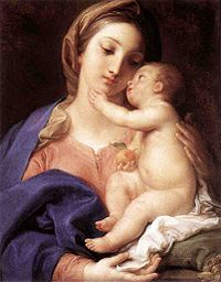 Madonna and child, by Pompeo Batoni, 1742